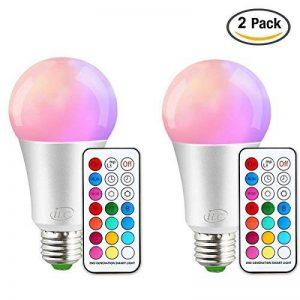 iLC Ampoule Led Couleur Edison Changement de couleur Ampoule 10W E27 Dimmable RGBW LED Ampoules [2017 Deuxième génération] - RGB 12 choix de couleur - Télécommande Compris (Lot de 2) de la marque iLC image 0 produit