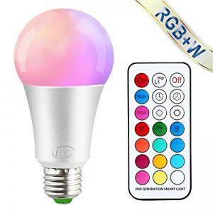 iLC Ampoule Led Couleur Edison Dimmable Changement de couleur Ampoule 10W E27 RGBW LED Ampoules [2017 Deuxième génération] - RGB 12 choix de couleur - Télécommande ComprisiLC Ampoule Led Couleur Edison Changement de couleur Ampoule 10W E27 Dimmable RGBW L image 0 produit