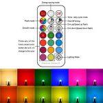 iLC Ampoule Led MR16 E27 RGB SpotCulot ledChangement deCouleur,Ampoules LedRGBW Dimmable Blancchaud (2700K) Spots LED3W- Equivalence incandescence 20W, Lampe LedAngle de Faisceau 45°,200Lumen,85CRISuper high Display, VisDouille,LumiereledLum image 2 produit