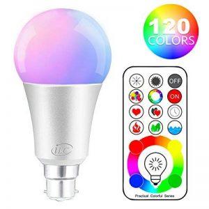 iLC LED Ampoules de couleur Changement de Couleur Ampoule RGB+Blanc Baïonnette - 120 Choix de Couleur Dimmable - 10Watt B22 Types RGBW LED Ampoules - 2 Modes Dynamiques - Télécommande Compris de la marque iLC image 0 produit