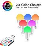 iLC LED Ampoules de couleur Changement de Couleur Ampoule RGB+Blanc Baïonnette - 120 Choix de Couleur Dimmable - 10Watt B22 Types RGBW LED Ampoules - 2 Modes Dynamiques - Télécommande Compris (Lot de 2) de la marque iLC image 1 produit