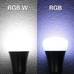 iLC LED Ampoules de couleur Changement de Couleur Ampoule RGB+Blanc Baïonnette - 120 Choix de Couleur Dimmable - 10Watt B22 Types RGBW LED Ampoules - 2 Modes Dynamiques - Télécommande Compris (Lot de 4) de la marque iLC image 2 produit
