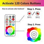 iLC LED Ampoules de couleur Changement de Couleur Ampoule RGB+Blanc Baïonnette - 120 Choix de Couleur Dimmable - 10Watt B22 Types RGBW LED Ampoules - 2 Modes Dynamiques - Télécommande Compris de la marque iLC image 1 produit