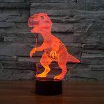 Illusion Optique 3D Dinosaure Nuit Lampe 7 Couleurs Changeantes Puissance USB Contact Switch Lampe Décorative LED Lampe de Table Anniversaire Noël Cadeau Enfants Jouets de la marque YTDZ image 3 produit