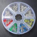 Ils–160Pièces 3mm LED diodes Jaune Rouge Bleu Vert Assortiments Kit DIY de la marque ILS. image 1 produit