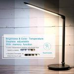 IMAGE Lampe de bureau 12W, Protège les yeux, équipé d'un port USB pour charger vos appareils et l'adaptateur secteur fourni, réglage de luminosité & de température de couleur, contrôle tactile et fonction mémoire de la marque AGPTEK image 2 produit