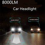 Infitary H4/H7 LED Headlight de phare Hi / Lo faisceau Auto phare, double faisceau de lumière, 72W 6500K 8000LM Extrêmement Super brillant COB Kit de conversion de copeaux pour voiture- 1 pai (H7R) de la marque Infitary image 4 produit