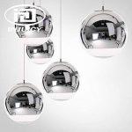 INJUICY Tom Dixon Moderne E27 Led Edison Ballon Argent Electroplate Lampe Suspensions Lustres Plafonniers en Verre pour Couloir Chevet Cuisine Salle à manger Salon Chambre Restaurant (Diamètre 200mm) de la marque INJUICY image 1 produit