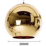 INJUICY Tom Dixon Moderne Led Edison Ballon Or Electroplate Lampe Suspensions Lustres Plafonniers en Verre Abat-jour Eclairage de Plafond pour Cuisine Salle à manger Salon Chambre (Diamètre 300 mm) de la marque INJUICY image 1 produit
