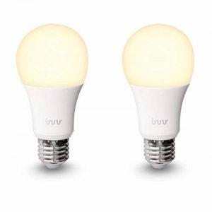 Innr E27 Duo pack des 2 ampoules LED connectée Blanc (pilotable via smartphone, iOS/Android, compatible avec Hue*) RB 165 de la marque innr image 0 produit