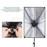 INTEY Softbox 50 x 70 cm avec 85W Ampoule E27, Kit d'éclairage Photographie avec 2m Support Triangulaire et Sac de Protection, Photo Studio pour des Effets d'éclairage Doux de la marque Amzdeal image 2 produit