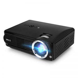 iRULU Vidéoprojecteur P4 Projecteur multimédia HD LCD Projecteur à Domicile 1080P pour téléviseur Jeux vidéo avec HDMI VGA USB AV (Noir - P4) de la marque iRulu image 0 produit
