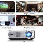 iRULU Vidéoprojecteur P4 Projecteur multimédia HD LCD Projecteur à Domicile 1080P pour téléviseur Jeux vidéo avec HDMI VGA USB AV (Noir - P4) de la marque iRulu image 3 produit