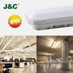 J&C® Tube LED 60CM 18W Plafonnier Étanche IP65 Lampe sur Plafond Anti-Poussière Anti-Corrosion et Anti-Choc Ampoule LED Blanc Neutre de Haute Qualité Fonctionnement Stable Garantie Internationale de la marque J&C image 1 produit