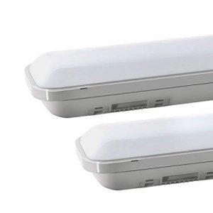 J&C® Tube LED 60CM 18W Plafonnier Étanche IP65 Lampe sur Plafond Anti-Poussière Anti-Corrosion et Anti-Choc Ampoule LED Blanc Neutre de Haute Qualité Fonctionnement Stable Garantie Internationale de la marque J&C image 0 produit