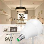 Jandcase ampoule LED équivalent 60W, ampoules LED Blanc chaud 3000K, Blanc A60Ampoule 9W, E14Culot Base lumières LED, LED Lampes éclairage de la maison, variateur d'intensité (lot de 5) de la marque JandCase image 3 produit