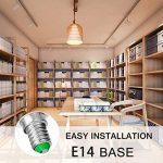 Jandcase ampoule LED équivalent 60W, ampoules LED Blanc chaud 3000K, Blanc A60Ampoule 9W, E14Culot Base lumières LED, LED Lampes éclairage de la maison, variateur d'intensité (lot de 5) de la marque JandCase image 2 produit