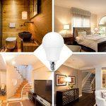 Jandcase ampoule LED équivalent 60W, ampoules LED Blanc chaud 3000K, Blanc A60Ampoule 9W, E14Culot Base lumières LED, LED Lampes éclairage de la maison, variateur d'intensité (lot de 5) de la marque JandCase image 4 produit