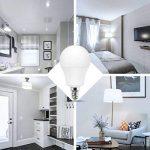 Jandcase ampoule LED équivalent 60W, ampoules LED Lumière du jour 6000K, Blanc A60Ampoule 9W, E14Culot Base lumières LED, LED Lampes éclairage de la maison, variateur d'intensité (lot de 5) de la marque JandCase image 4 produit