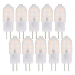 Jandcase ampoules LED G41W, Blanc chaud 3000K, 125lumen Capsule ampoules LED, idéal pour remplacer les ampoules halogènes 15W, AC/DC 12V, non compatible avec variateur d'intensité, 360° Angle de faisceau, Lot de 10 de la marque JandCase image 0 produit