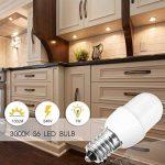 Jandcase E14Mini ampoule à LED, variateur d'intensité 1W Ampoule Petit culot à vis, équivalent à 10W ampoules, 3000K Blanc chaud, 100lumens Nuit ampoules de lampe, Lot de 4 de la marque JandCase image 2 produit