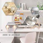 Jandcase E14Mini ampoule à LED, variateur d'intensité 1W Ampoule Petit culot à vis, équivalent à 10W ampoules, 3000K Blanc chaud, 100lumens Nuit ampoules de lampe, Lot de 4 de la marque JandCase image 4 produit