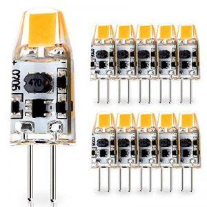 JAUHOFOGEI Ampoule LED COB G4 12-24V AC/10-30V DC 1W (équivalent à Halogène 10W), Blanc chaud 2700K Lampe Spot, Pour Les Caravanes, Bateaux, Lot de 10 de la marque JAUHOFOGEI image 0 produit