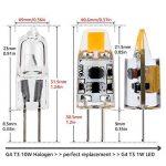 JAUHOFOGEI Ampoule LED COB G4 12-24V AC/10-30V DC 1W (équivalent à Halogène 10W), Blanc chaud 2700K Lampe Spot, Pour Les Caravanes, Bateaux, Lot de 10 de la marque JAUHOFOGEI image 2 produit