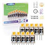JAUHOFOGEI Ampoule LED COB G4 12-24V AC/10-30V DC 1W (équivalent à Halogène 10W), Blanc chaud 2700K Lampe Spot, Pour Les Caravanes, Bateaux, Lot de 10 de la marque JAUHOFOGEI image 1 produit