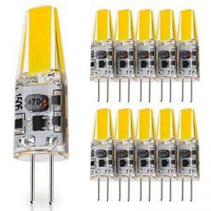 JAUHOFOGEI Ampoule LED COB G4 12-24V AC / 10-30V DC 2W (équivalent à Halogène 20W), Blanc Froid 6000K Lampe Spot, Pour Les Caravanes, Bateaux, Lot de 10 de la marque JAUHOFOGEI image 0 produit