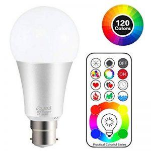 Jayool 10W B22 120 Couleurs LED RGBW Ampoule Changement de Couleur Télécommande (2017 nouveau-3ème génération), Bayonet Timing et Dimmable RGB+lumière du jour Blanc(6500K) Baïonnette (Lot de 1) de la marque Jayool image 0 produit