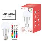 Jayool Ampoules à LED Changement de couleur, 10W E27 Ampoules RGBW, 120 couleurs RGB + Blanc Chaud, Vis Cap-4ème Génération (Lot de 1) de la marque Jayool image 4 produit
