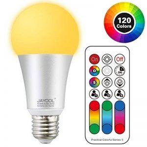 Jayool Ampoules à LED Changement de couleur, 10W E27 Ampoules RGBW, 120 couleurs RGB + Blanc Chaud, Vis Cap-4ème Génération (Lot de 1) de la marque Jayool image 0 produit