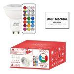 Jayool GU10 Ampoules LED, Dimmable 3W Changement de Couleur Spot Light avec Télécommande, RGB + Blanc Froid, Timier, 45° Angle de Faisceau (Lot de 4) de la marque Jayool image 3 produit