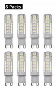 JCKing (Pack de 8) Lampe à ampoule à économie d'énergie 7W G9 75 LED SMD 2835, 220V-240V AC Blanc froid 6000-6500K 550LM, Lampe à projecteur LED G9 équivalent à ampoules halogènes de 60W de la marque JCKing image 0 produit