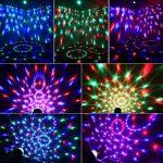 Jeux de lumiere,Boule à Facette DJ, Lampe de Scène Discothèque Mini Projecteur Spot RGB LED 7 Couleurs,5W 240V, Lumière d'Ambiance pour Fête,Halloween, Noël, Soirée, Club, Bar, Scène, Karaoke etc. de la marque Innoo Tech image 1 produit