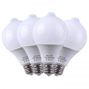 Jian Ya Na 4 Pack PIR Ampoules LED E27 7W infrarouge de détection de mouvement Capteur de lumière d'économie d'énergie Lumières 4000k blanc naturel de la marque Jian Ya Na image 0 produit
