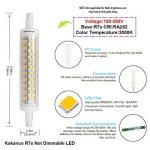 Kakanuo 10W 118mm R7s LED 1200 lm Blanc Chaud 3000k Equivalent 100W Halogène Ampoule 100-265V Non Dimmable 360 ° Angle de Faisceau Remplacement Ampoule Projecteur [Classe énergétique A +] de la marque Kakanuo image 1 produit