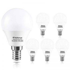 Kakanuo 5W Ampoule Led Culot E14 Globe G45 Blanc Froid 5000K 500lm AC 85-265V Equivalent 50W Halogène Ampoule Non Dimmable [Classe Energétique A +] de la marque Kakanuo image 0 produit