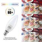 Kakanuo 6W Ampoule Led Culot E14 Bougie C37 Blanc Chaud 2700K 600lm AC 85-265V Equivalent 60W Halogène Ampoule Non Dimmable [Classe Energétique A +] de la marque Kakanuo image 4 produit