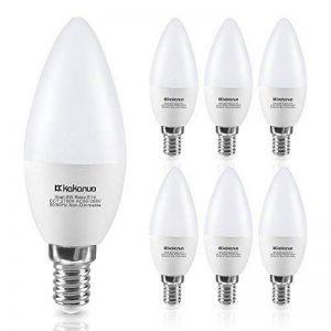 Kakanuo 6W Ampoule Led Culot E14 Bougie C37 Blanc Chaud 2700K 600lm AC 85-265V Equivalent 60W Halogène Ampoule Non Dimmable [Classe Energétique A +] de la marque Kakanuo image 0 produit
