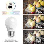 Kakanuo 6W Ampoule Led Culot E27 Globe G45 Blanc Chaud 2700K 600lm AC 85-265V Equivalent 60W Halogène Ampoule Non Dimmable [Classe Energétique A +] de la marque Kakanuo image 4 produit