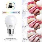 Kakanuo 6W Ampoule Led Culot E27 Globe G45 Blanc Froid 5000K 600lm AC 85-265V Equivalent 60W Halogène Ampoule Non Dimmable [Classe Energétique A+] de la marque Kakanuo image 2 produit