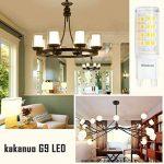 Kakanuo Ampoule LED G9 3Watt Equivalent 40W Halogène Ampoule Blanc Chaud 3000K 380lm AC100-265V 360 Degrés D'angle De Faisceau non-dimmable 52x2835smd(Lot de 6) de la marque Kakanuo image 4 produit