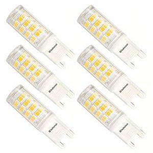 Kakanuo Ampoule LED G9 3Watt Equivalent 40W Halogène Ampoule Blanc Chaud 3000K 380lm AC100-265V 360 Degrés D'angle De Faisceau non-dimmable 52x2835smd(Lot de 6) de la marque Kakanuo image 0 produit
