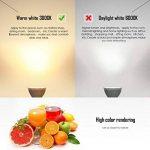 Kakanuo Ampoule LED GU10 Équivalent 55 Watt Ampoule halogène Blanc chaud 3000K 5.5 Watt 450lumens AC85-265V Spot LED Light Non-dimmable (Lot de 6) de la marque Kakanuo image 3 produit