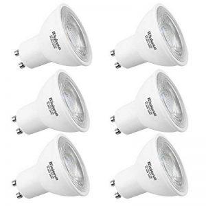 Kakanuo Ampoule LED GU10 Équivalent 55 Watt Ampoule halogène Blanc chaud 3000K 5.5 Watt 450lumens AC85-265V Spot LED Light Non-dimmable (Lot de 6) de la marque Kakanuo image 0 produit