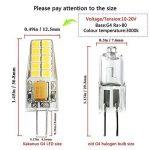 Kakanuo G4 LED Ampoule 3W Equivalent 30W Ampoule à Halogène Blanc Chaud 3000K AC/DC12-20V 300lm Non-Dimmable(Lot de 6) de la marque Kakanuo image 1 produit