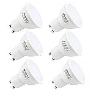 Kakanuo GU10 LED 6W Equivalent à Ampoule Halogène 50W Lumière Blanc Chaud 3000K 500 lumens, 120° Angle de Faisceau NON-Dimmable AC85-265V (paquet de 6) de la marque Kakanuo image 0 produit