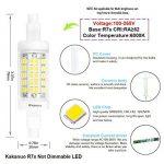 Kakanuo R7s LED 5W 78mm 600 lm Blanc Froid 6000k 100-265V Remplacement D'Ampoule Halogène 50W Projecteur Spot 360 ° Angle de Faisceau Non-Dimmable [Classe énergétique A +] de la marque Kakanuo image 1 produit